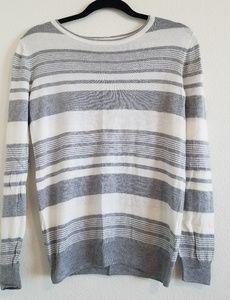 Sweaters - Striped crewneck blouse, sweater